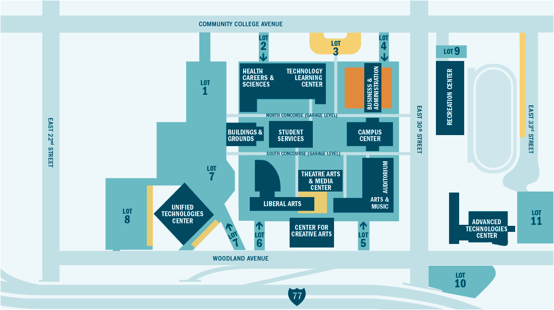 Tri C West Campus Map.New Information Where To Park Shuttle Service From East And West