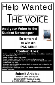 Official contest flyer, look around the Western Campus for them also!
