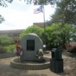 Memorial display at the Western campus
