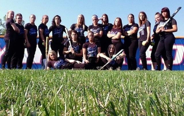 Women Challengers Softball Team, Spring 2013 Regional Champions.