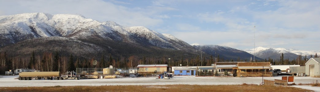 Coldfoot Camp. Coldfoot, AK. Brooks Range in background. Photo courtesy of Ken Ilgunas