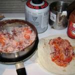 rice and bean taco night Photo courtesy of Ken Ilgunas