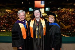 Dr. Rowell (right) at commencement Spring 2013 Courtesy of Cuyahoga Community College