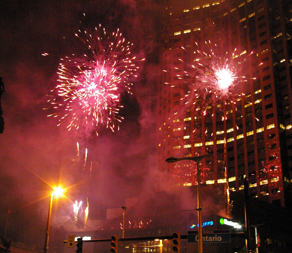 Fireworks burst forth at the Star-Spangled Spectacular, presented by the Cleveland Orchestra, July 1 at Public Square, downtown Cleveland. It's America's 237th birthday this week, check listings on when your community will celebrate. Photo by Bronson Peshlakai