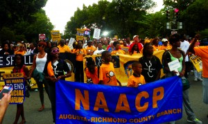 Many groups rallied together, including the NAACP at the March on Aug. 28.
