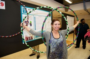 "Former THRIVE participant Nicole Miller had a great business idea to sell hoops, and now teaches lessons through her business, ""Rock 'n Hoops."" Photo Courtesy of THRIVE"