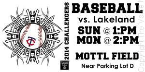 Tri-C Baseball, against division rivals Lakeland