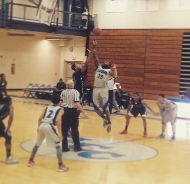 The opening tip of the anticipated rematch against Lakeland Community College Feb. 18 Photo by Mitchel Guy