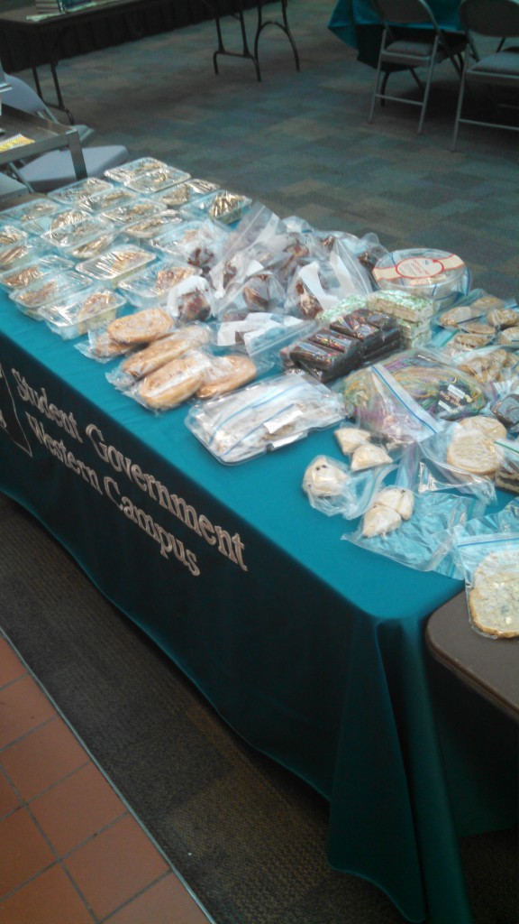 Bake sale photo 2.. An assortment of bakery items at the bake sale benifiting Antonio Mason, By Robert Fenbers